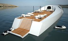 This is the U-010 yacht-submarine. Parties on the surface, and adventure ...fooyoh.com