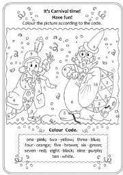 English worksheet: It´s Carnival Time!