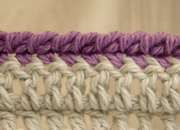 How to crochet a 'rope' joining edge..