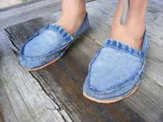 Recycled Jeans Footwear Pattern