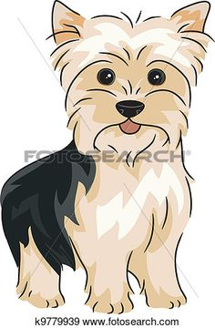 Clipart Happy Alert Yorkshire Terrier Yorkie Dog - Royalty Free Vector Illustration by BNP Design Studio Puppy Obedience Training, Basic Dog Training, Training Dogs, Yorkie Dogs, Puppies, Yorkies, Pet Dogs, Chien Yorkshire Terrier, Positive Dog Training