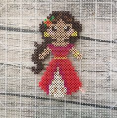 Elena of Avalor - Disney perler beads by hollohandcrafted