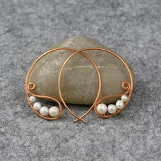 copper wiring hoop Earring handmade ani designs by AniDesignsllc, $14.95