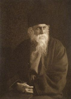 Sir Rabindranath Tagore | photographed by W. Fearon Halliday | sepia-toned print, 1920s