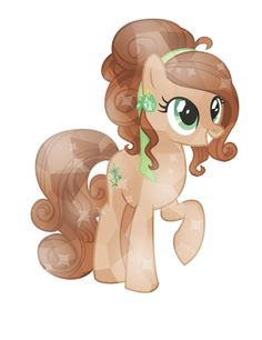 This is CinnamonSugar. She owns a cafe in the Crystal Empire. CinnamonSugar is very sweet, too!