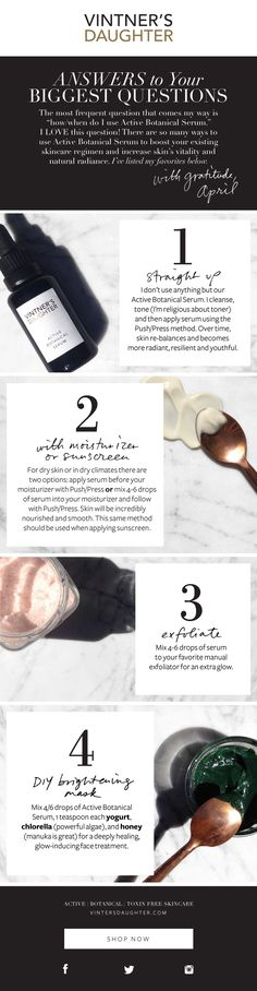 Unique DIY Beauty Recipes to Create Using Vintner's Daughter Active Botanical Serum - storybookapothecary.com #greenbeauty