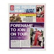 One Direction Personalised Newspaper One Direction Gifts, Amazing Gifts, Personalised Gifts, Newspaper, Best Gifts, Fans, Personalized Gifts, Great Gifts, Followers