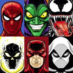 Marvel Portraits by Terry Huddleston - via thuddleston.deviantart.com
