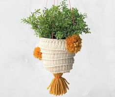 I'm bring the back with my hanging boho planter and couldn't be more excited about it. I was going through some Easter decorations when I found this plastic planter and knew it would be perfect for making a hanging planter. Diy Concrete Planters, Diy Planters, Succulent Planters, Boho Bedroom Decor, Boho Decor, Hanging Planter Boxes, Hanging Basket, Restoration Hardware Outdoor, Flowers For Everyone