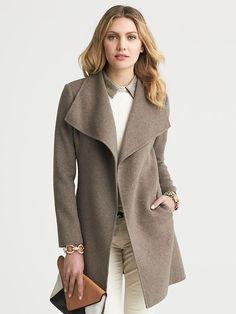 Banana Republic   Draped Wool Coat