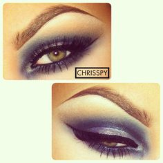 Smokey blue eyeshadow  #chrisspy