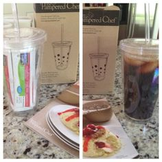 Pampered Chef tumbler gift idea- fill with individual beverage packets!!