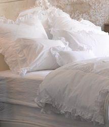 Love white bedding ,so crisp & clean .