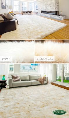 Genuine Australian sheepskin rugs add luxury to any room