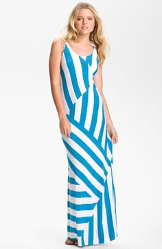 FELICITY & COCO Stripe Jersey Maxi Dress available at Nordstrom...I will be wearing this summer. Thanks Mr.B.