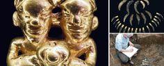 """El oro de """"La necrópolis de El Caño"""". Fueron cerca de 150 piezas las que se encontraron, entre ellas prendas de oro, adornos y utensilios..."""
