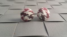 Items similar to Burgundy and Brown Houndstooth Fabric Covered Button Post Earrings Inch] on Etsy Fabric Covered Button, Covered Buttons, Button Earrings, Stud Earrings, Houndstooth Fabric, Burgundy, Trending Outfits, Brown, Unique Jewelry