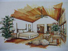 36 sketch painting light room/ resort