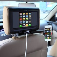 Headrest Smartphone Mounting Bracket – - Genius for my friends with kids! High Tech Gadgets, Car Gadgets, Gadgets And Gizmos, Latest Gadgets, Cool Technology, Technology Gadgets, Mobile Technology, Smartphone, Tech Toys