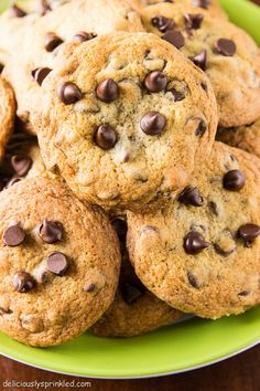The Best Chocolate Chip Cookies - Deliciously Sprinkled