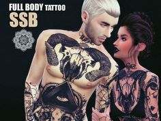 Sims 4 Updates: TSR - Tattoos : HXC Full Body Tattoo V1 by SavageSimBaby, Custom Content Download!
