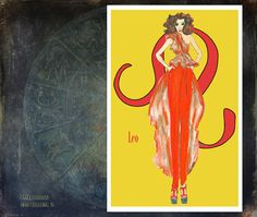 Leo fashion illustration Greeting Card 5.5x8 by MedusasEmporium2