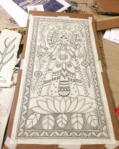 Prepping for is always fun! Art Forms Of India, Bay Area Events, Lord Ganesha Paintings, Madhubani Art, Indian Folk Art, Madhubani Painting, Painting Workshop, Outline Drawings, Awesome Art