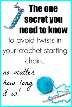 This is so simple - why didn't I think of this. Seriously, life changing for people who love to crochet. einfach How To Avoid Twists In Long Crochet Chains - Crochet News Crochet Twist, Crochet Chain, Knit Or Crochet, Learn To Crochet, Crochet Crafts, Easy Crochet, Crochet Projects, Yarn Crafts, Knitting Projects