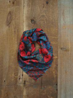 Vintage Scarf / Wool Scarf / Boho Scarf / by littleedenvintage, $24.00