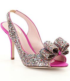 f7fad456eb5 kate spade new york Charm Slingback Peep Toe Pumps Bridal Wedding Shoes