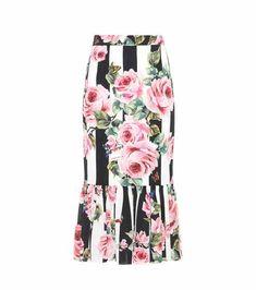 Floral-printed silk skirt | Dolce & Gabbana