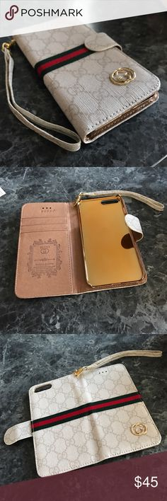 7e5f69fd8a72ed iPhone 7 Plus wallet case Gucci Style Gucci styled wallet case. Three card  slots and