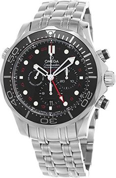 Men's Wrist Watches - Omega Mens 21230445201001 Seamaster Analog Display Automatic Self Wind Silver Watch * Click image for more details. (This is an Amazon affiliate link)