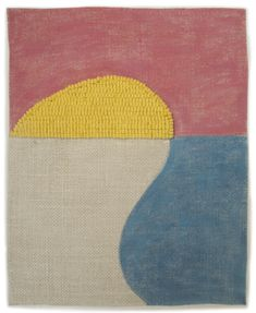 All works are hand-dyed wool on linen, most with egg tempera paint. Click on thumbnail details to see an enlargement with title and dimensions.