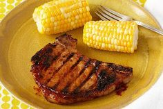 We're all for tradition, especially when it's this tasty. A classic BBQ marinade flavors sizzling pork chops, hot off the grill.