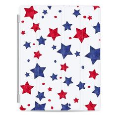 iPad Cover / Case - Modern red blue watercolor stars 4th of July by... ($50) ❤ liked on Polyvore featuring accessories, tech accessories, ipad cover / case, apple ipad cover case, ipad cover case, ipad cases, apple ipad case and ipad sleeve case