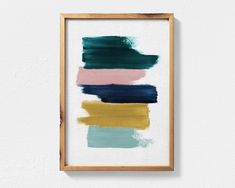 Mar 2020 - Excited to share this item from my shop: Abstract Painting Featuring Teal, Mustard, Navy Blue and Blush Pink Brush Strokes, Contemporary Printable Wall Art, Teal Decor Abstract Art Metal Tree Wall Art, Diy Wall Art, Wall Art Bedroom, Teal Wall Art, Wall Decor, Contemporary Abstract Art, Abstract Wall Art, Painting Abstract, Contemporary Decor