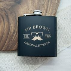 Original Hipster's Black Hip Flask - Angelica Florence Jewellery