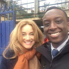 Marine Delterme et Ahmed Sylla sur le tournage de la nouvelle saison d'#AliceNevers