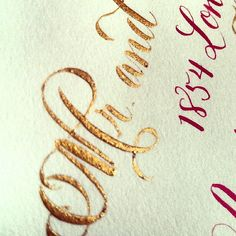 Recent Calligraphy: Metallic Gold Calligraphy | Calligraphy by Jennifer