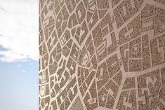 Graphic Concrete reference: Skanska Headquarters, Helsinki Kathy and Helsinki Neptun Concrete Facade, Concrete Forms, Concrete Texture, Precast Concrete, Screen Design, Wall Design, Installation Street Art, Dog Wash, Wayfinding Signage