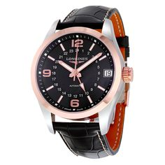 Longines Conquest Classic Black Dial GMT Automatic Men's Watch L27995563 - Conquest - Longines - Shop Watches by Brand - Jomashop