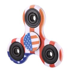 [$1.95] Fidget Spinner Toy Stress Reducer Anti-Anxiety Toy for Children and Adults,  Steel Beads Bearing + ABS Material, US Flag Pattern