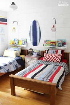 Summer House Tour at The Happy Housie Boys Bedroom 1