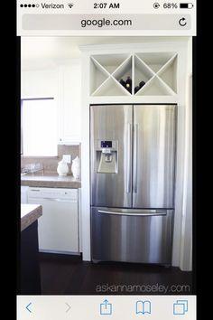 Above the fridge storage idea
