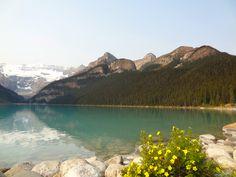 Beautiful lakeside shot at Banff National Park in Canada.
