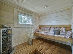 Saunagalleria I SUN SAUNA Oy I Ideoita saunaremonttiin, saunaideat Modern Saunas, Spa Rooms, Home Spa, Dream Rooms, Porch Swing, Outdoor Furniture, Outdoor Decor, Really Cool Stuff, Entryway Tables