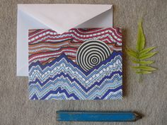 Tribal sunset note card by BlackFoxMT on Etsy