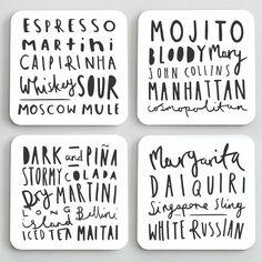 Cocktail Coaster Set