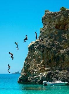https://www.facebook.com/PoseidonHolidaysAndTours?ref=hl Cliff jumping ~ Agiofili beach, Lefkada